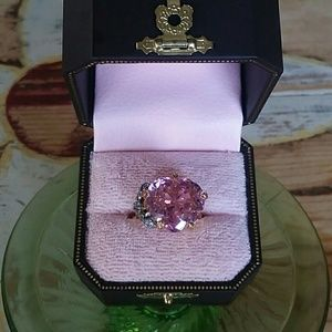 Juicy Couture heart crystal ring♡